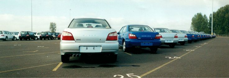 Here's the first shipment of the WRX that arrived into the Port of Vancouver in early 2001. Awesome. #TBT