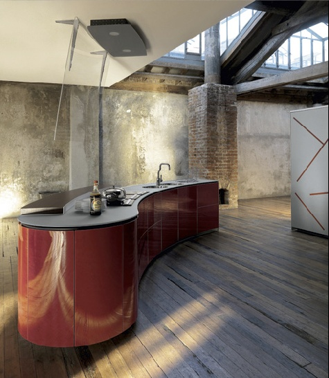 Curvalinear Kitchens, a collaboration between Alessi, Valcusine and Oras - La Cucina Alessi.