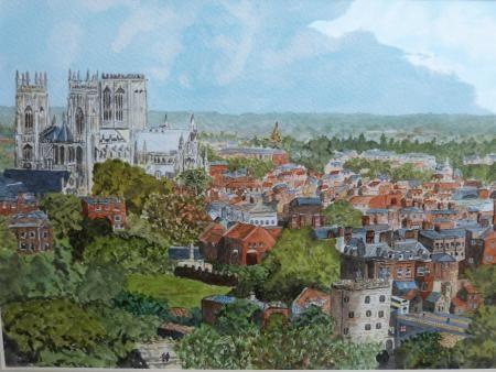 York by Brian Minter, Guiseley Gallery, Guiseley Art Club, SAA Professional Members' Galleries