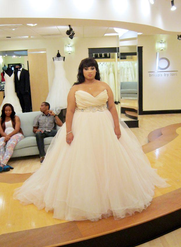 lazaro sherbet wedding dress | deweddingjpg.com