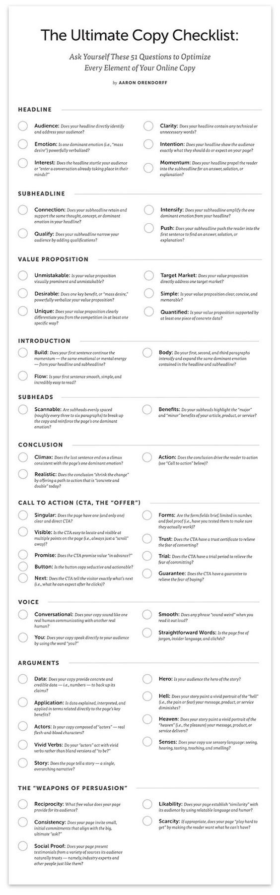 14 best write like a boss images on pinterest content marketing the ultimate copy checklist 51 questions to optimize every element of your online copy free poster fandeluxe Image collections