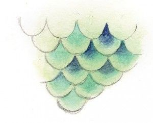 how to draw mermaid scales