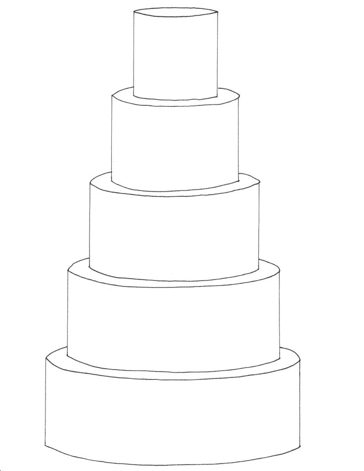 5 tier round cake template FREE downloadable cake ...