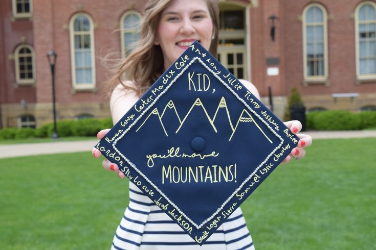 Elementary Education graduation cap, signed by kindergarten students taught…