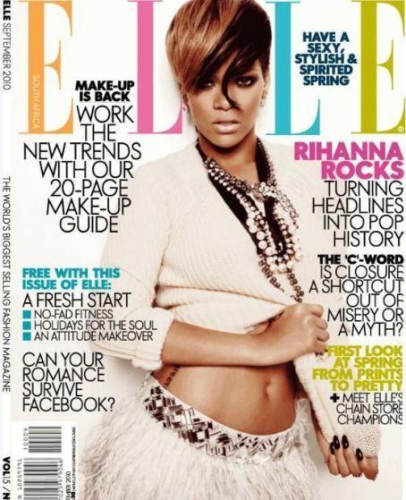 Rihanna - Elle Magazine Cover [South Africa] (September 2010)