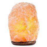 #7: HemingWeigh Natural Himalayan Rock Salt Lamp 19-25 lbs with Wood Base Electric Wire & Bulb