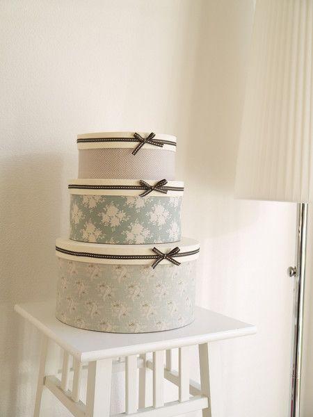 """Kisten & Boxen - Hutschachtel Set Shabby Chic-Boxen """"Ocean Blue""""  - ein Designerstück von SweetAmaliaWetzel bei DaWanda"""
