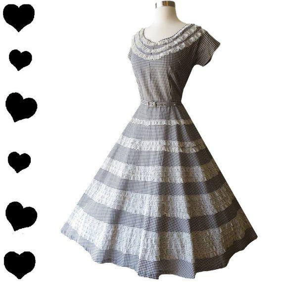 White lace 50s dress pattern.