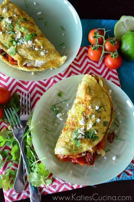Cherry Tomato and Chorizo Omelette