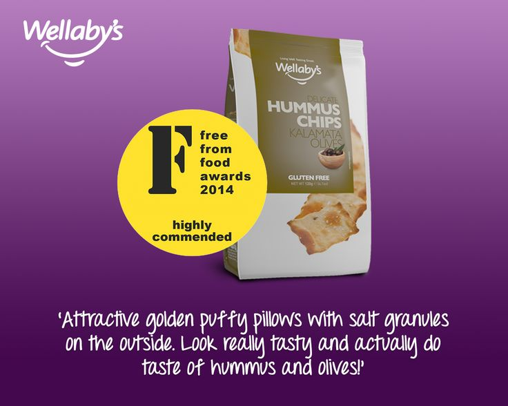 This is what the judges at the Free From Awards had to say about our Hummus Chips with Kalamata Olives.