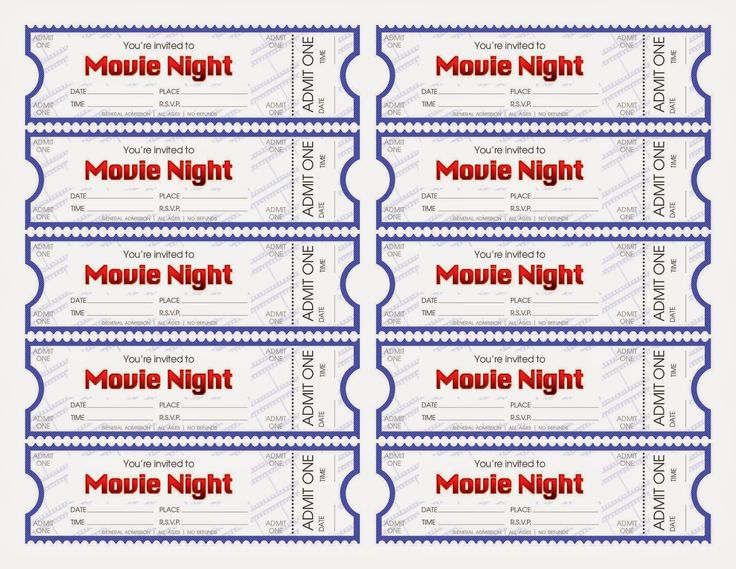 97 best Printable Things images on Pinterest Valentine ideas - create your own movie ticket