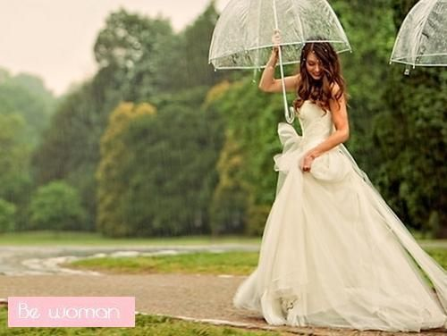 I kinda hope it rains on my wedding day :)