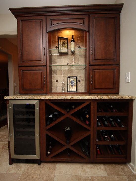 Attractive Traditional Home Wine Bar Cabinet Design Ideas, Pictures, Remodel And Decor
