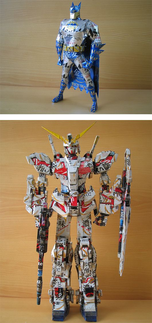 Recycled Can Sculptures by Makaon