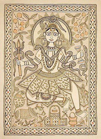 Shiva the Destroyer - Mithila, Bihar, India
