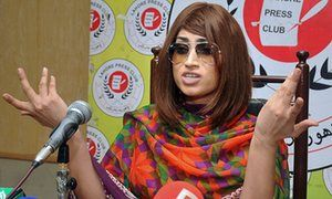 Pakistani fashion model and social media celebrity Qandeel Baloch