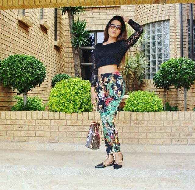 The stunning Shajar Khan in her #Nicci jungle printed pants bought at the #NicciSummer16 launch