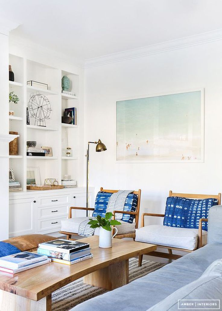 Bright Lounge with Blue Hints
