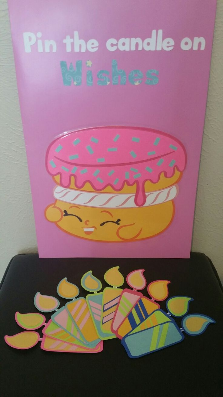 Shopkins Pin The Candle On Wishes game #kidsparty