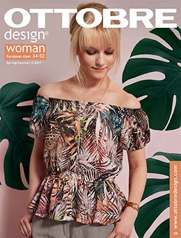 Frische Damenmode im skandinavischen Stil zum selber nähen in der zauberhaften Ottobre design Woman Frühling/Sommer 02/2017