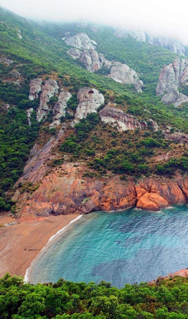 The Scandola nature reserve in Corsica.
