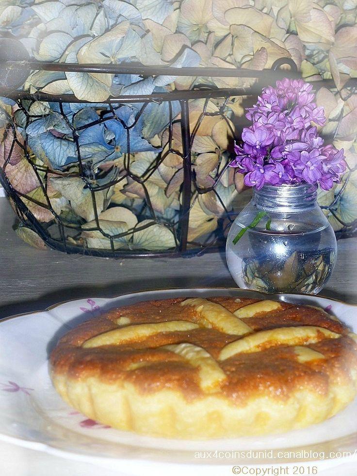 Tarte feuilletée confiture de poires-frangipane
