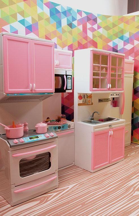 Barbie 4 Piece Vogue Modern Kitchen Set In 2019