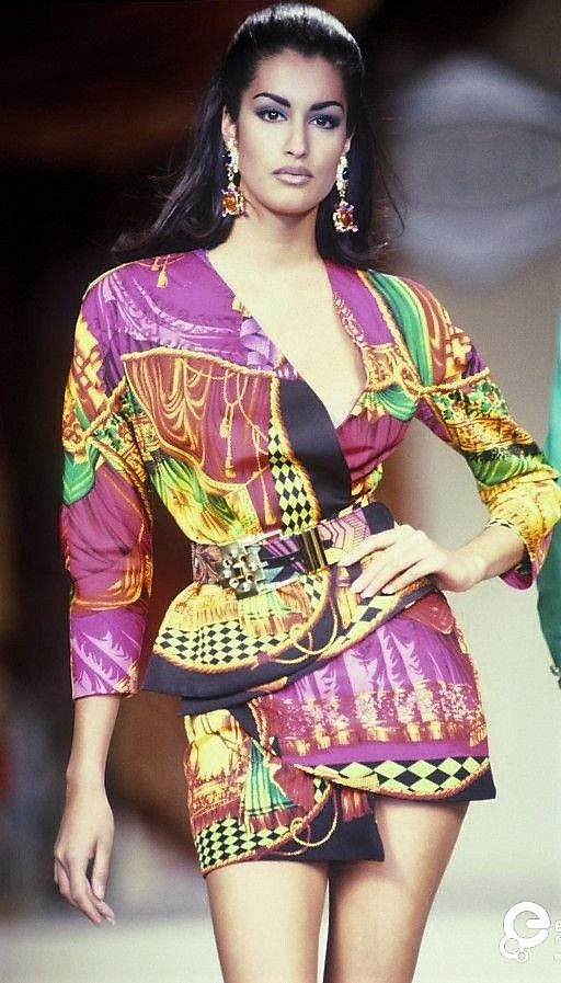 Yasmeen Ghauri - Gianni Versace, Spring-Summer 1991, Couture
