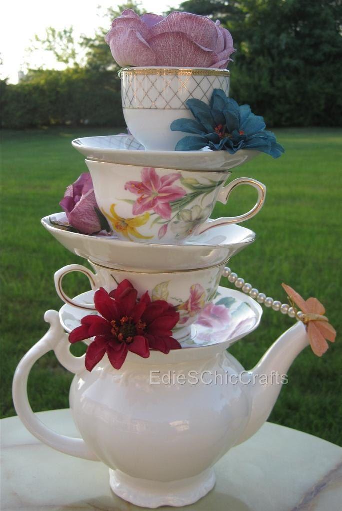 1000 ideas about teacup centerpieces on pinterest for Unique tea party ideas