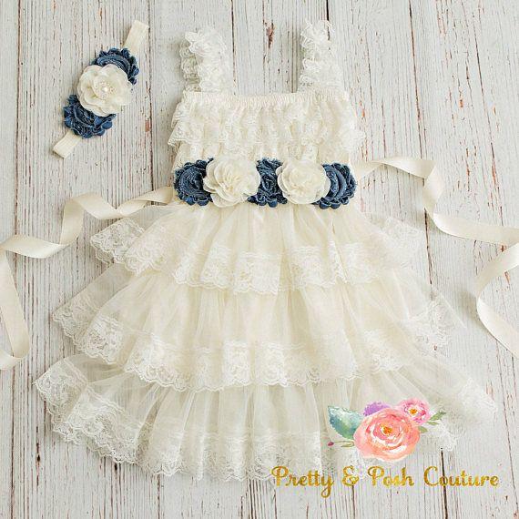 lace flower girl dress-rustic flower girl dress lace girls