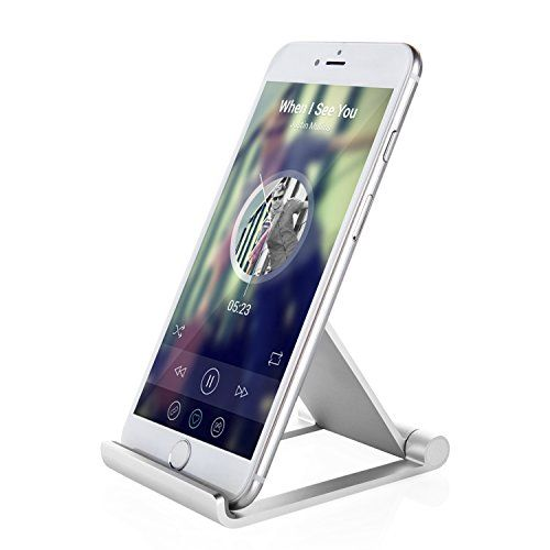 Cell Phone Stand, Jellas Multi-Angle Aluminum Foldable Kickstand Adjustable Desktop Holder, Dock, Cradle for iPhone, Samsung Smart Phone and Tablet.