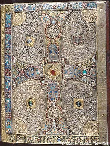 Early Carolingian metalwork covers, Lindau Gospels, Austria, 8th c.