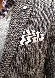 CHEVRON POCKET SQUARE