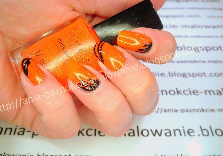 Black-orange czyli pomarańczowo-czarne paznokcie