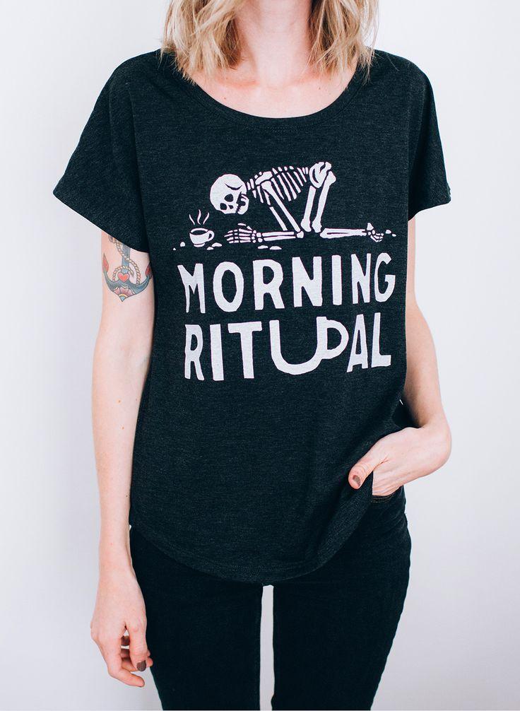 Morning Ritual (Coffee Lover / Worshipper) design from Pyknic |  | Drink Me (Tea & Coffee)  ☕