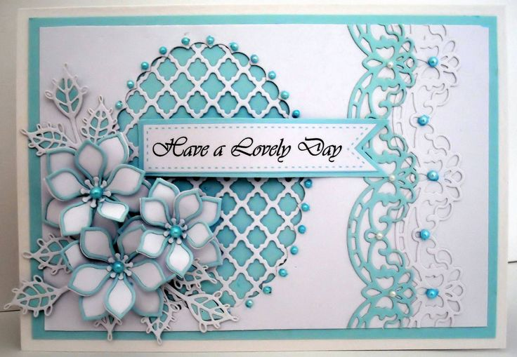 ..by Marjorie Ramsay - inspired by John Lockwood - Spellbinders Fancy Lattice - Orange Blossom complete & open petals - Portuguese Collection border -Lace Edged leaves - Nellie Snellen multi-frame oval -computer generated greeting.