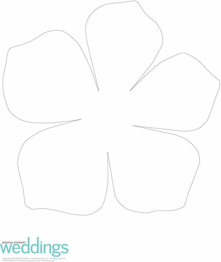 Flower Petal Template Silhouette Cameo Pinterest – Flower Petal Template
