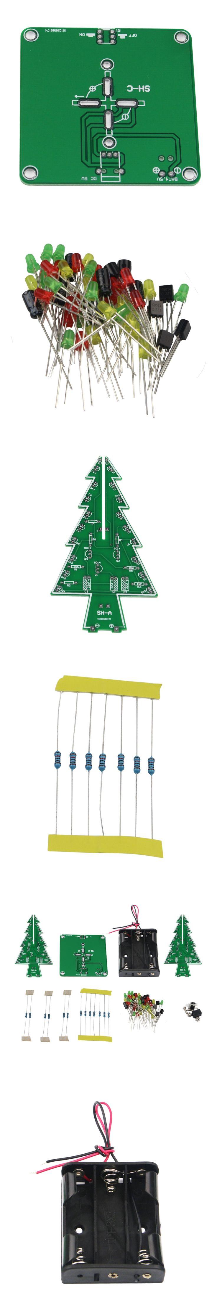 Christmas Tree LED Flashing Light DIY Light Board Kit Red Green Yellow Circuits For Christmas Decoration