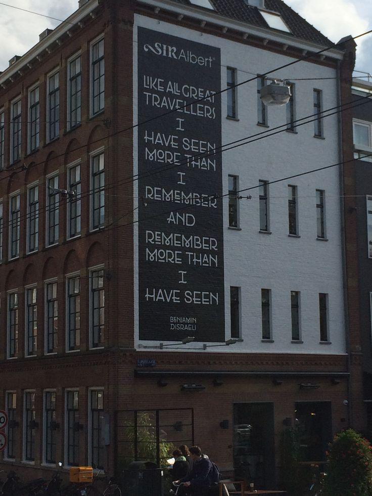 Visto en Amsterdam.  Aprender inglés viajando. Diviértete aprendiendo idiomas.