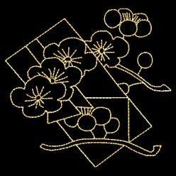Shashiko Embroidery - Mimosa Flowers