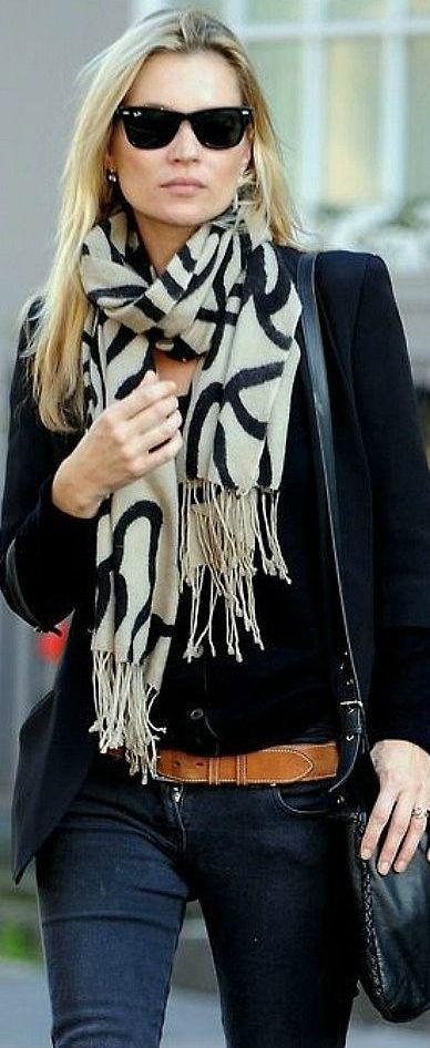 graphic print scarf.