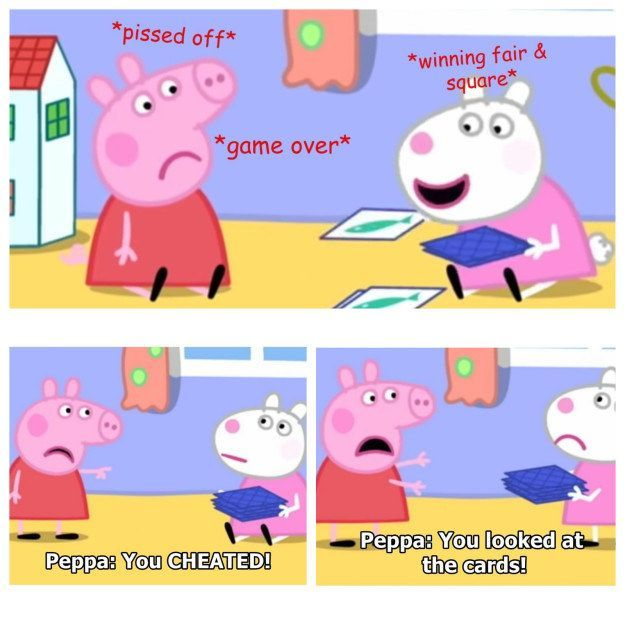 17 Times Peppa Pig Was Just An Absolute Savage Peppapig Don T Let The Sweet Voice Fool You Peppa Pig Memes Peppa Pig Funny Peppa Pig Wallpaper