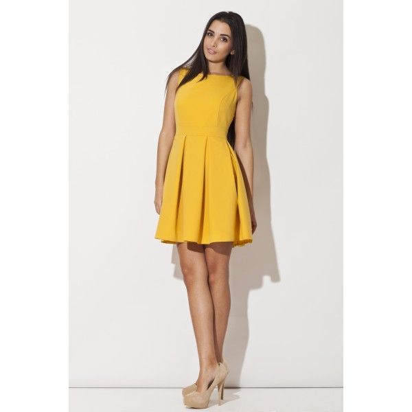 Dziewczęca sukienka KATRUS żółta K128