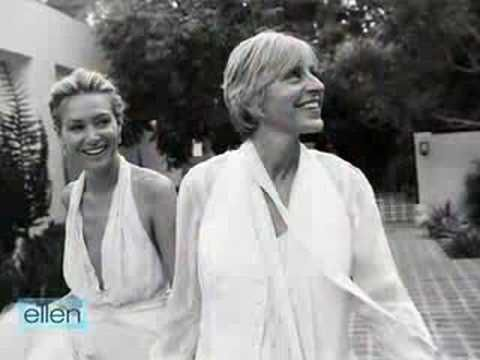 Ellen & Portia's Wedding Video. so beautiful. you can feel the love between them. always makes me smile.