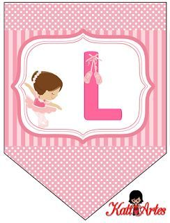 Banderines de Ballerina. | Oh my Alfabetos!