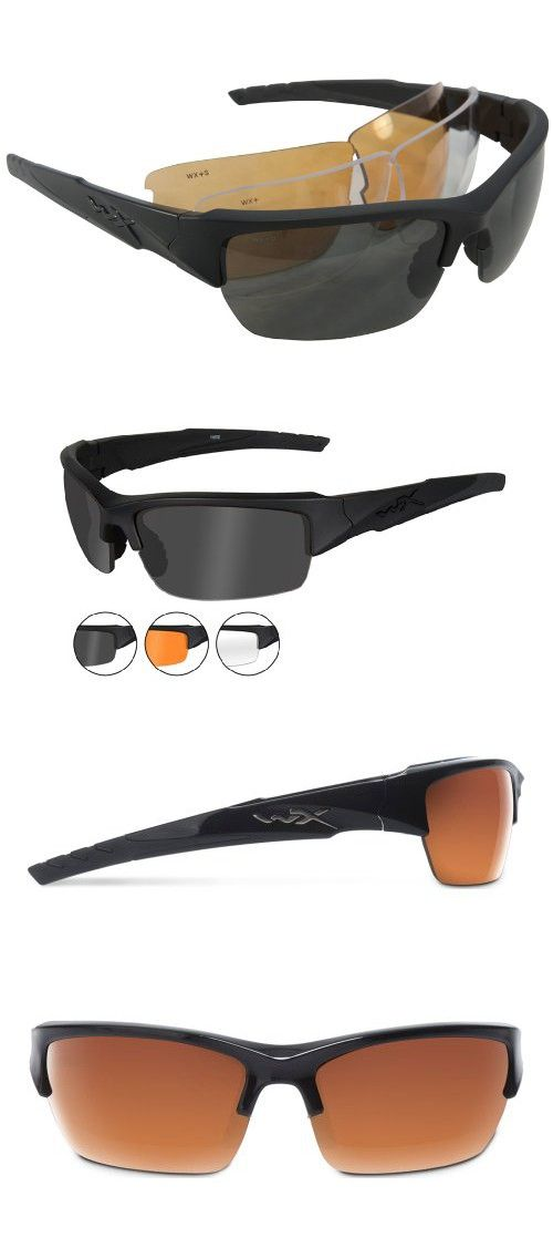 Wiley X Valor Sunglasses (Smoke Grey Clear Light Rust Lenses c90618b68b