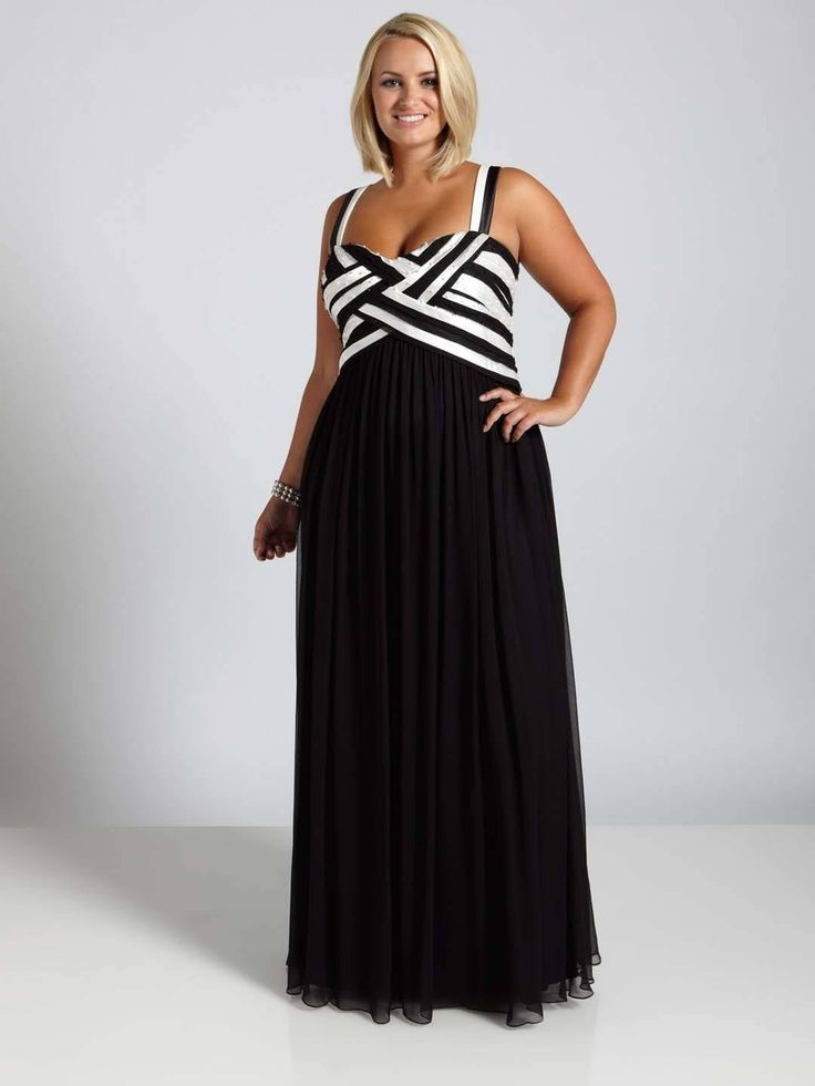 black and white plus size prom dresses