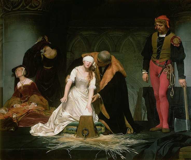 The Execution of Lady Jane Grey (1833)  Paul Delaroche