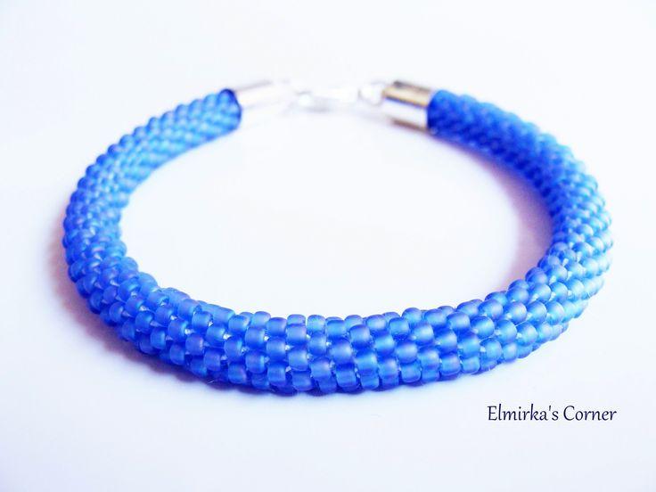 Matt blue-jeans handmade bead bracelet  see more: https://www.facebook.com/ElmirkasCorner/posts/856312627809491