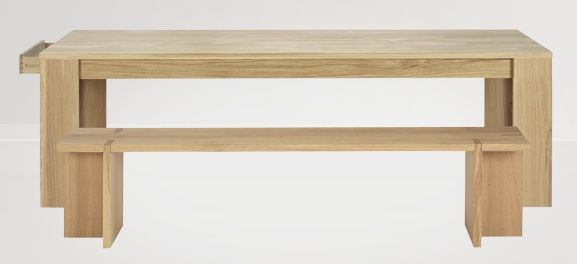 Bibliotheque Oak Dining Table